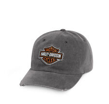HARLEY-DAVIDSON - BASEBALL CAP - BRAND NEW-  HAT - SUN VISOR PEAK  LOGO FRAYED