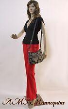 Female mannequin displays ladies leather jackets,head turn,manikin-Badi#9+2wigs