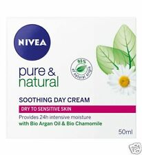Nivea Puro Y Natural Calmante Crema De Día 50ml
