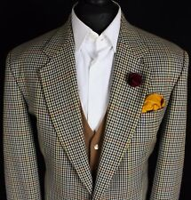 DAKS Tweed Blazer Jacket Windowpane 100% Wool 44R EXCEPTIONAL FABRIC 250