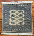 """Vintage Antique Turkish Square Handknotted 100% Wool Small Prayer Rug 40"""" x 36"""""""