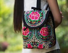 Women Mini Backpack embroidered School Bag Rucksack Travel Bag BookBags