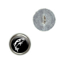 Fish Bass Jumping - Metal Craft Sewing Novelty Buttons Set of 4