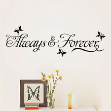 New Always And Forever Quote Words Wall Sticker Art Mural Room Decor Removable