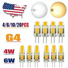4/20 pcs G4 COB LED 4W/6W AC/DC 12V Mini Crystal Bulb Light Replace Halogen Lamp