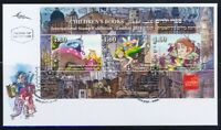ISRAEL LONDON STAMPS 2010 CHILD BOOKS SHEET ON FDC