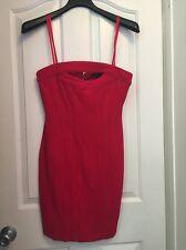 NWT $298 BCBG MAX AZRIA Rio Red Strapless Dress Size 6