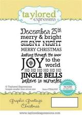 TAYLORED EXPRESSIONS  GRAPHIC GREETINGS  CHRISTMAS  RUBBER STAMP TEALC67