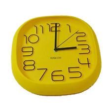 Design Wanduhr, Bürouhr, Küchenuhr wall-clock (017-Gelb)