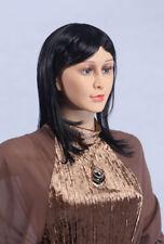 Perruque Weiblich (Féminin) pour Mannequin de Vitrine Noir D6 Femme, Neuf