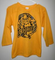 28f0acc23 TOLEDO ICE DIGGERS polyester youth small CEHL hockey jersey Ohio league  defunct