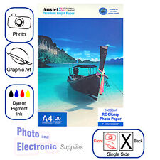 A4 Glossy RC (resin coated) Inkjet Photo Paper 260gsm (20 Sheets), Gloss