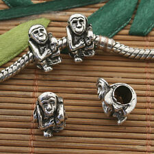 10pcs Tibetan silver monkey spacer bead h5067