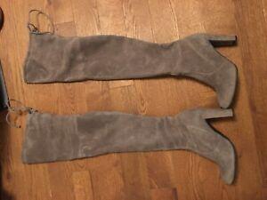 stuart weitzman suede highland boots 6