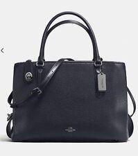 COACH Brooklyn 28  Carryall Bag Navy 56839 Leather NWT $495