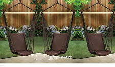 3 lot brown Cotton padded Swing hammock hanging outdoor Chair garden patio porch