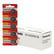 Panasonic cr2032 3v lithium battery x 5pcs batteries Fresh USA Seller Exp. 2028