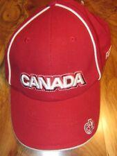 New CANADA Maple Leaf Baseball Cap or Hat, 2006 Olympics, Red, OSFA, Reg $25