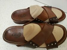 DOLCE & GABBANA mens sandals  leather us size 9.5