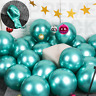 """50 Green Metallic Balloons Chrome Shiny Latex 12"""" Thicken For Wedding Party Baby"""
