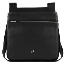 Porsche Design shyrt-Leather shoulderbag m2 bolso bandolera cuero negro