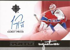 CAREY PRICE 2012-13 UD Ultimate Collection Signature Auto Montreal Canadiens SP