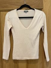 Gorgeous Women's N.Peal Pink Long Sleeve Cashmere Silk Jumper Size S