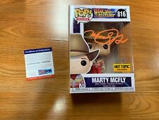"Funko Pop Signed Michael J Fox ""Marty Mcfly"" Back To The Future PSA-IP Cowboy C"