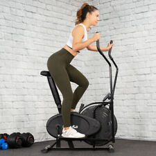 BLACK 2 in 1 Elliptical Bike Cross Training Stationary Exercise Fitness Machine