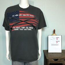 Gray Ranger Up Mens 10-8 Nation Veteran Military T Shirt