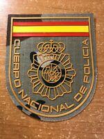 SPAIN PATCH POLICE POLICIA NACIONAL - SUBDUED - ORIGINAL!