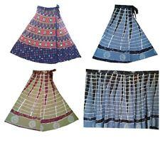 3 PC Indian Wrap Skirts Women Cotton Bohemian Beautiful Same Color Boho Dress
