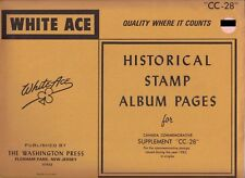 """White Ace 1983 Supplement """"Cc-28"""" for Canada Commemoratives"""