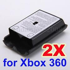 2x Battery Pack Cover Case for Xbox 360 Slim Wireless Game Controller Gamepad