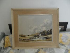 Original A TRELL Welsh Landscape Farmhouse Oil Painting Signed Framed - 1960/70s
