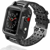 For iWatch Series 5 Waterproof Case Full Protect & iWatch Bands Series 4 40/44mm