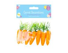 Easter Bonnet 8 cm Carrot Decorations 7 Pack
