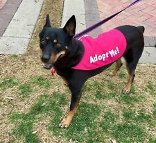 Adopt Me Cape for Rescue Dogs by K9Capes - Bright Pink