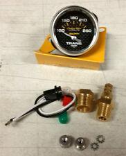SALE Auto Meter Carbon Fiber Electric Trans Temp Gauge 100-250 Deg F 52mm