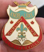 New listing RARE Vintage 1957 KNOB LAKE SCHEFFERVILLE QUEBEC Curling Club Pin Balfour
