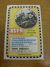 07/05/1973 SPEEDWAY programma: CAMPIONATI del mondo [programma originariamente datata 3