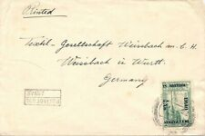 IRAQ 1922 Brit. Occupation of Iraq 1/2 An. on 10 Pa. single postage superb cover