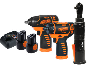 SP Tools Cordless 3 Piece 12V Combo Kit Impact Screwdriver Ratchet Wrenches SP82