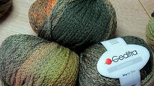600g CHANDRA Gedifra WOLLE Schachenmayr Safari Grün Oliv Natur BUNT Farbverlauf