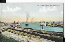 los angeles harbor,san pedro california postcard early 1900s