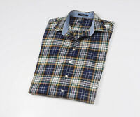 GANT Men's Blue checked long Sleeved Casual Shirt Size XL