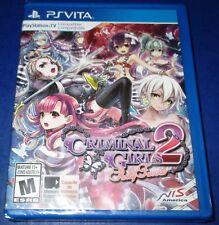 Criminal Girls 2: Party Favors PlayStation Vita *Factory Sealed! *Free Shipping!
