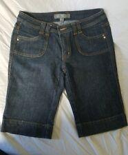 Boom Boom Jeans Women's cuffed Bermuda Shorts Size 11 dark wash