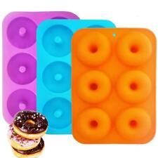 Moule à Donut,6-cavités Donut Silicone Baking Pan IHUIXINHE 3PCS...