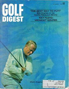 """1969 (Nov.) Golf Digest magazine, Jack Nicklaus, """"What's Bugging Big Jack?"""" ~ Gd"""